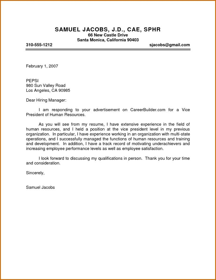 cover letter for hr generalist  marketing cover letter
