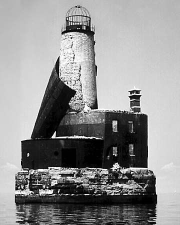 St. Simon's Lighthouse, Lake Michigan - built in 1851 - in 1900 keeper John Herman disappeared and activity has been reported from then on like doors opening and closing on their own