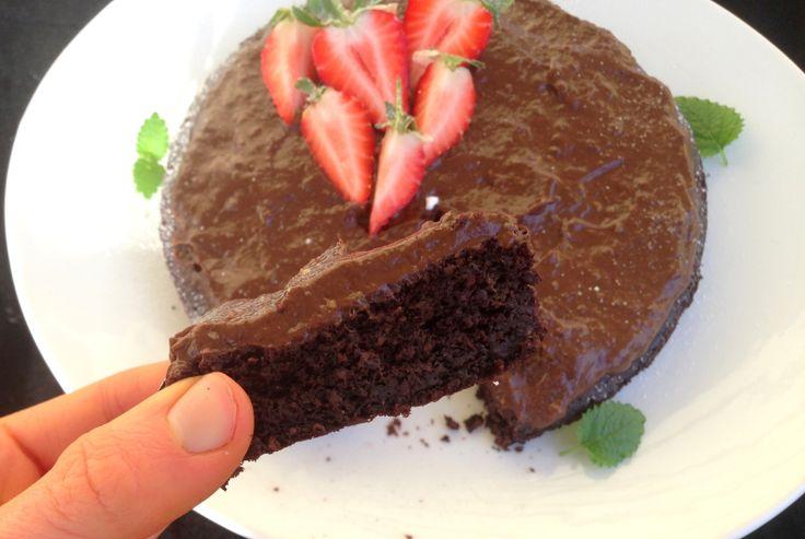 Saftig sjokoladekake - sukkerfri, glutenfri, melkefri