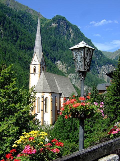 The 15th century old church in Heiligenblut, Karnten, Austria. This is near where I lived.