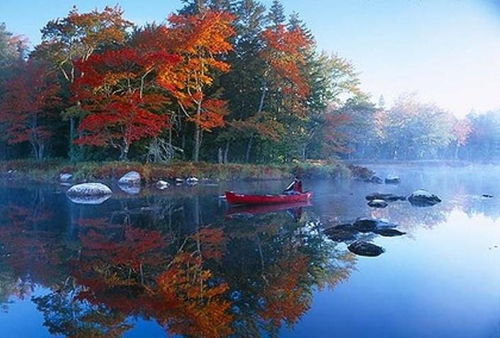 Mist central ... the Mersey River near Kejimkujik National Park, Nova Scotia, Canada