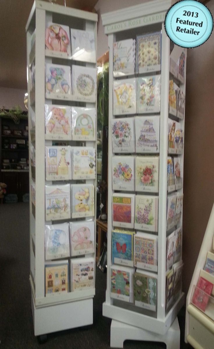 2 beautiful spinner of Carol Wilson cards  From the Heart 1356 Ottawa St. Windsor, ON 519-969-2773