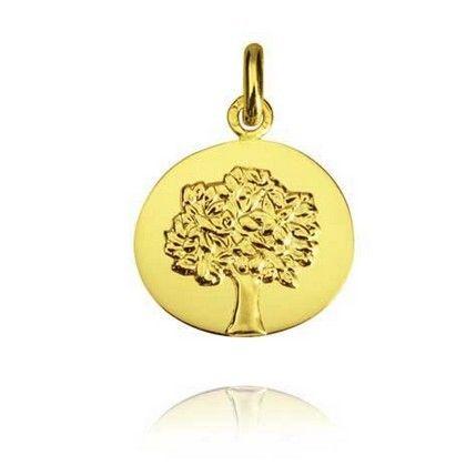Médaille Arbre de Vie Or jaune 18 carats - 16 mm - Arbre de Vie