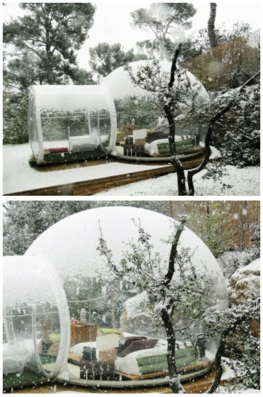 Bubble Tent. For when it rains or snows. Putting this is my future backyard :)