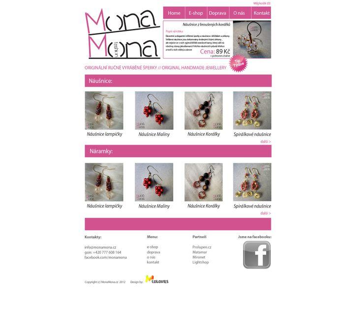 Návrh loga a e-shopu značky Mona Mona
