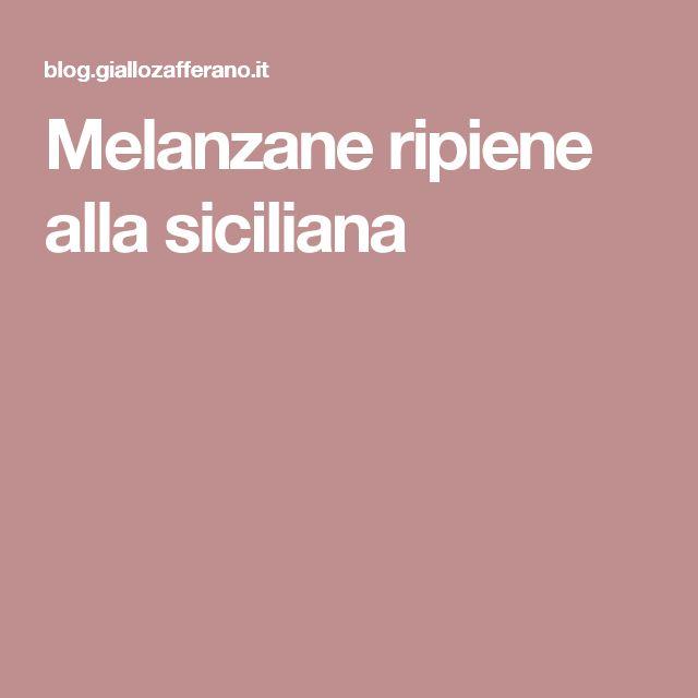 Melanzane ripiene alla siciliana