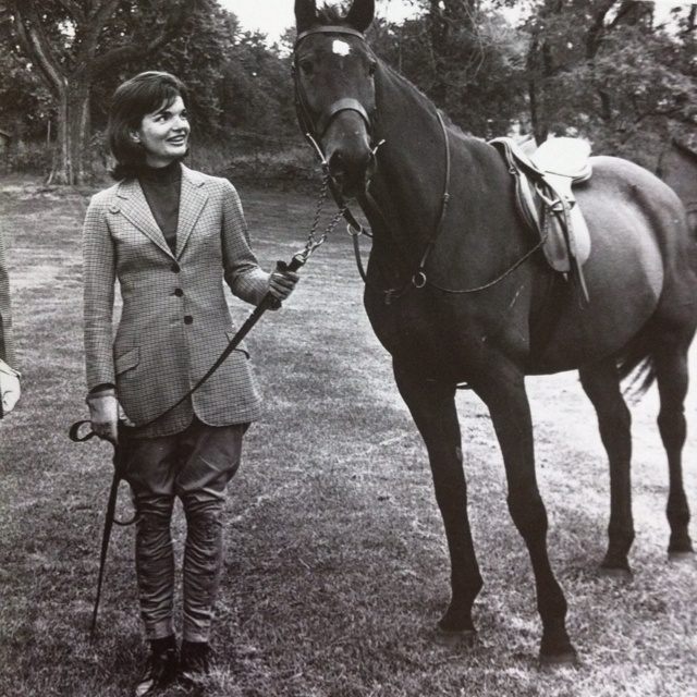 Jackie Kennedy with Sardar a gift from the President of Pakistan.