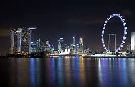 Spectacular night view of Singpore