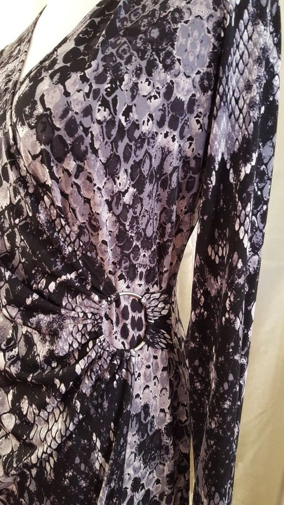 Glamour Brand Dress Size 10 Abstract Snake Skin Pattern Career Church Workchurch