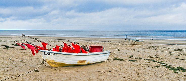 Fischerboot am Strand von Usedom #balticsea #island #germany