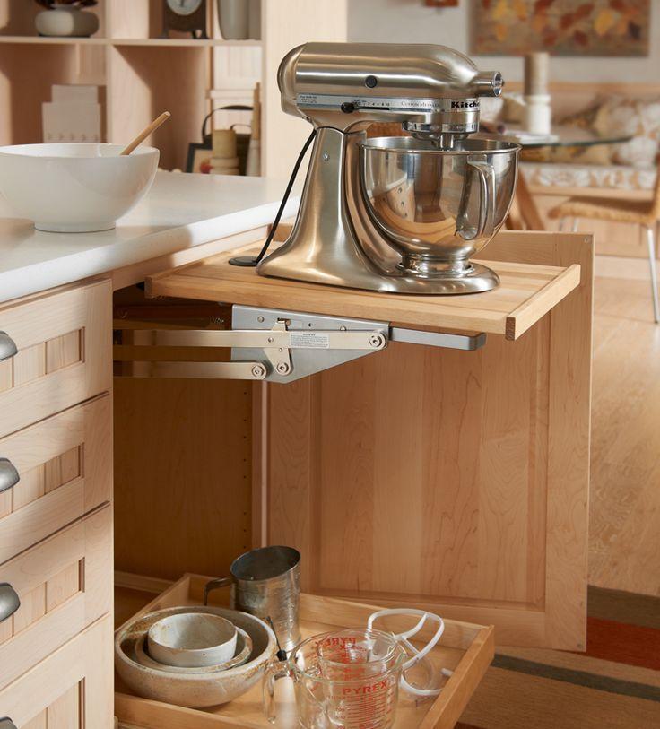 Storage for KitchenAid Mixer | Storage Solutions Details - Base Mixer Shelf - KraftMaid ...this is a ...