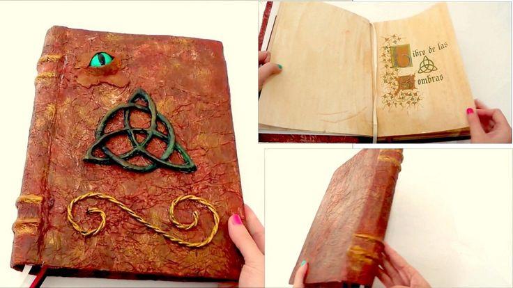 Libro antiguo con papel de seda y carton, ¡ideas con magia!