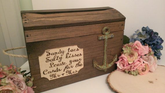 beach wedding card box anchor wedding reception card box nautical