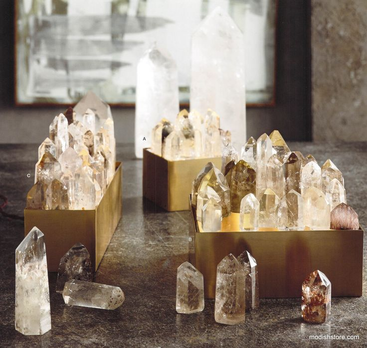 Roost Crystal Point Light Box Lamps - what a beautiful way to display crystals