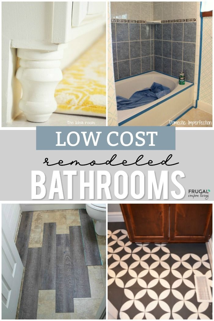 Remodeled Bathroom Ideas Inspiring Makeovers On A Budget In 2020 Bathroom Remodel Cost Bathrooms Remodel Remodel