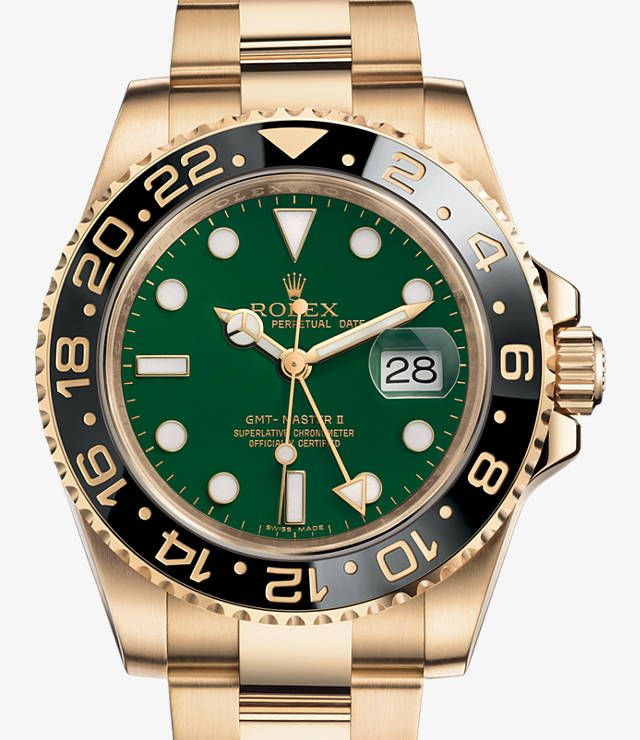 Relógio Rolex GMT-Master II: Ouro amarelo 18 quilates – 116718_ln