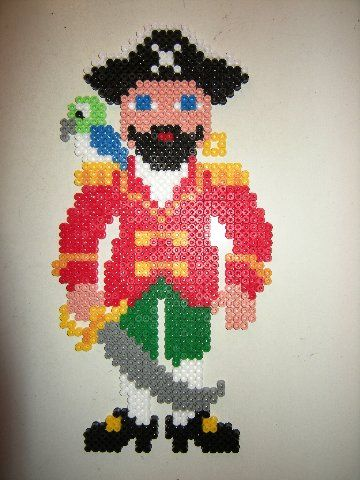 Pirate hama perler beads