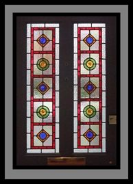 Traditional Leaded Glass - Brighton Geometric Front Door