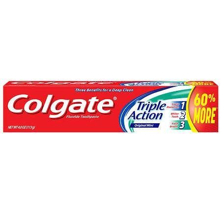 Colgate Triple Action Toothpaste - 4 oz.