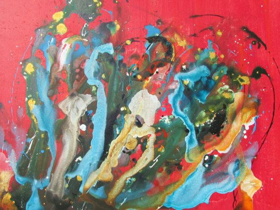 Large Modern  Abstract Art 30x40 on Canvas