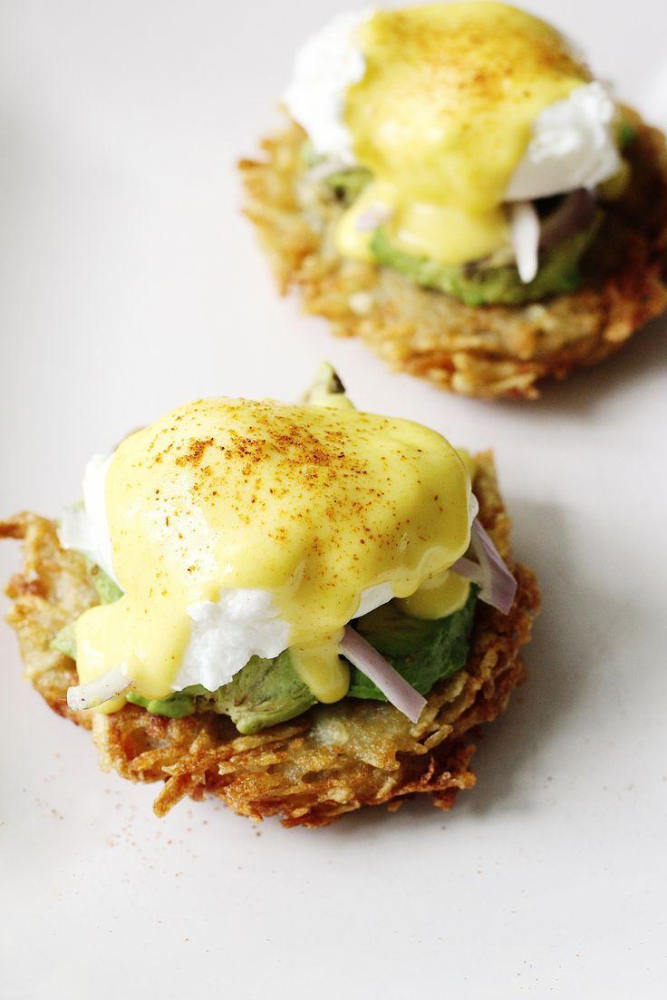 Hashbrown Avocado Eggs Benedict Recipe 3