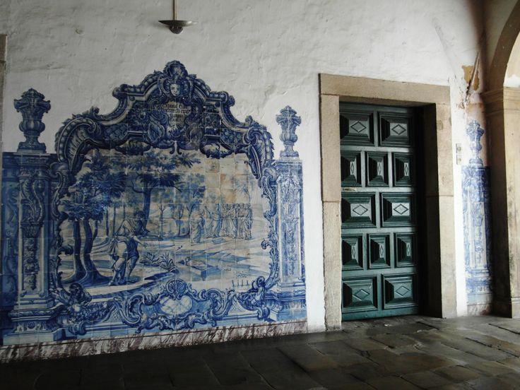 Salvador da Bahia | Convento de / Convent of São Francisco | corredor / corridor #Azulejo #BlueAndWhite #Barroco #Baroque #Brasil #Brazil
