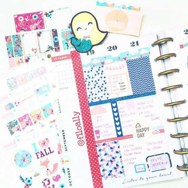 Did a little test run in my @the_happy_planner this week! I absolutely love this planner. I also got some gorgeous fall stickers from @twolilbees! You're the best Maria!