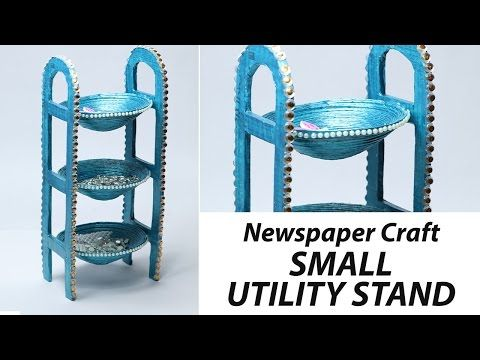 How to Make Desk Organizer with Newspaper & Cardboard | Waste Material Craft, DIY Utility Stand - YouTube