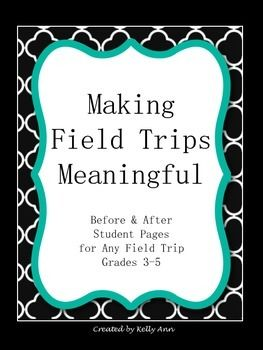 {FOLLOW ME on TpT to know when you can download new products FREE!} Field trips are meant to be FUN but they are also meant to be EDUCATIONAL. Help make your field trips more meaningful by using these before and after student pages to get your students thinking and reflecting. You can use these year after year!