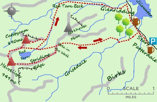 Helvellyn map