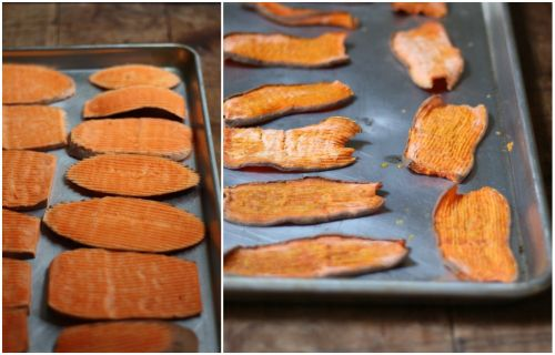 Homemade sweet potato dog chews: My dog goes nuts for these! So much more economical to make your own -- the ones at the pet store cost 10 bucks per bag! Whew!
