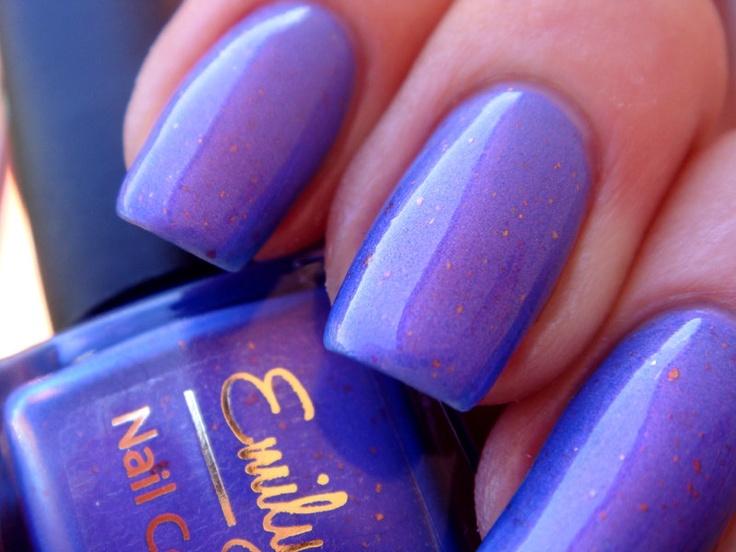 "Nail polish - ""Split Personality"" pink/purple duochrome with flakies - 13ml bottle. $9.00, via Etsy."