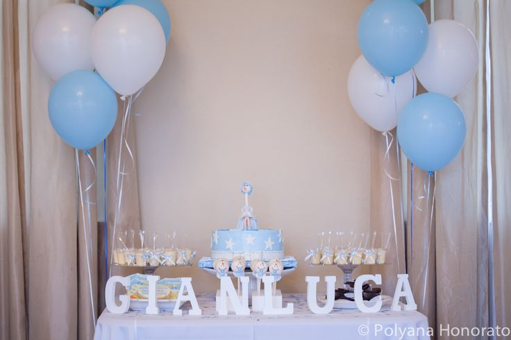 Blue Table Decoration Boy 39 S Baby Shower Party Ideas Idee Deco