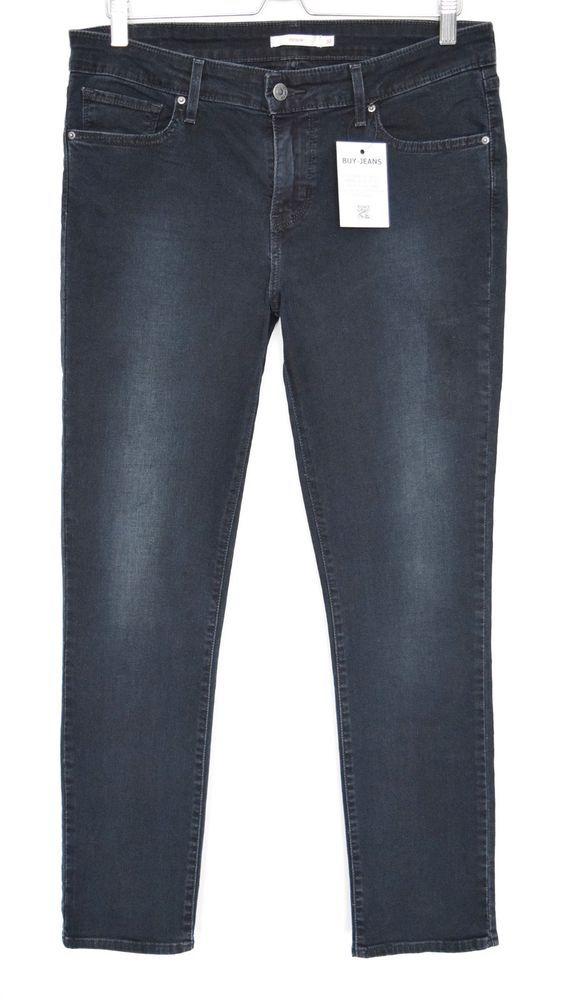 8ef99305e927a Levis 712 SLIM LEG Dark Blue Indigo Mid Rise Stretch Jeans Size 14 W32 L32