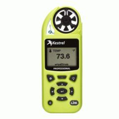 Professional Meter w/Link - High Viz Green Regular price$ 329.00 Add to Cart KESTREL 5200 Professional Weather Meter with Link - High Viz Green  Whether you're pouring concrete, balancing HVAC systems, or spraying crops, take the calculations and guess-work out of your job with integrated specialty calculations. No more guessing or using inaccurate data from miles away.   Features:  Measaures evaporation rate, air velocity, air flow, air density, relative air density, delta T, and much more…