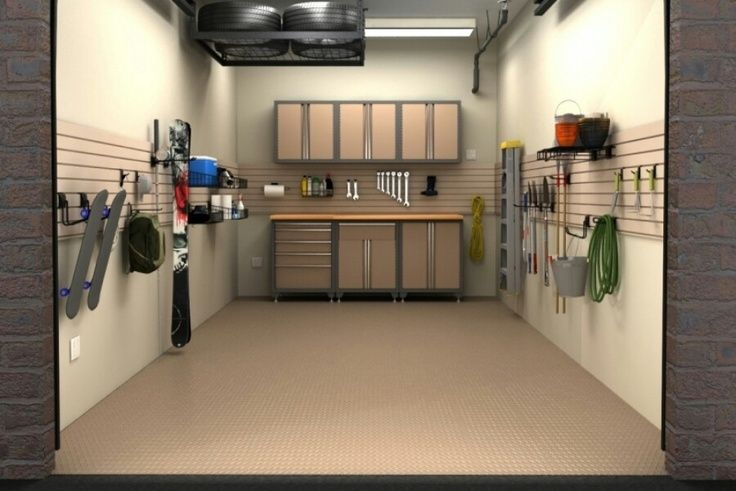 Single Car Garage Interior Design Garage Pinterest