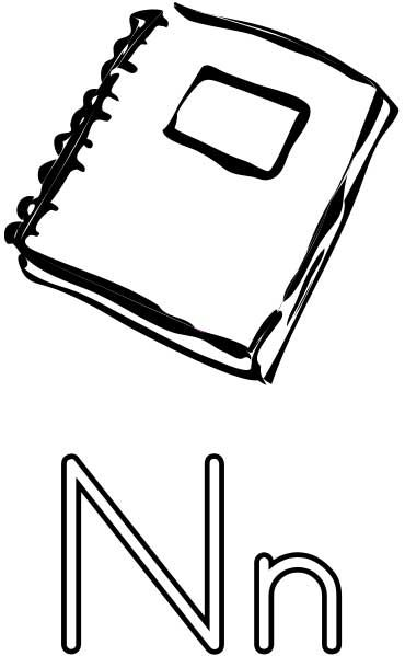 17 best images about letter n on pinterest nachos Coloring book notebook