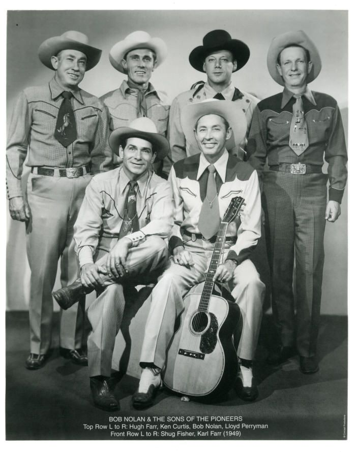 Sons of the Pioneers 1949. Ken Curtis in the background - Roy Rogers sang with them, too