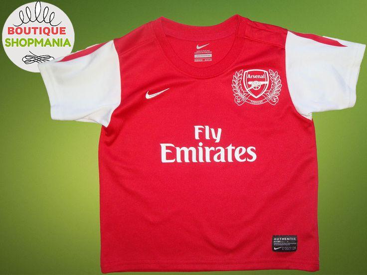 ARSENAL HOME 2011-2012 (Boys 18-24 MOS 85-90) NIKE FOOTBALL SHIRT Jersey Camisa  #NIKE #ARSENAL