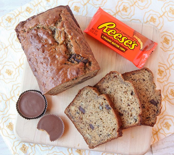 Peanut Butter Cup Banana Bread | The Daily Dish - OMG!!