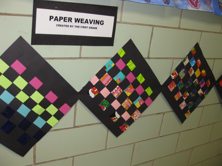 Basket Weaving For Elementary Students : Best images about weaving ideas on paper