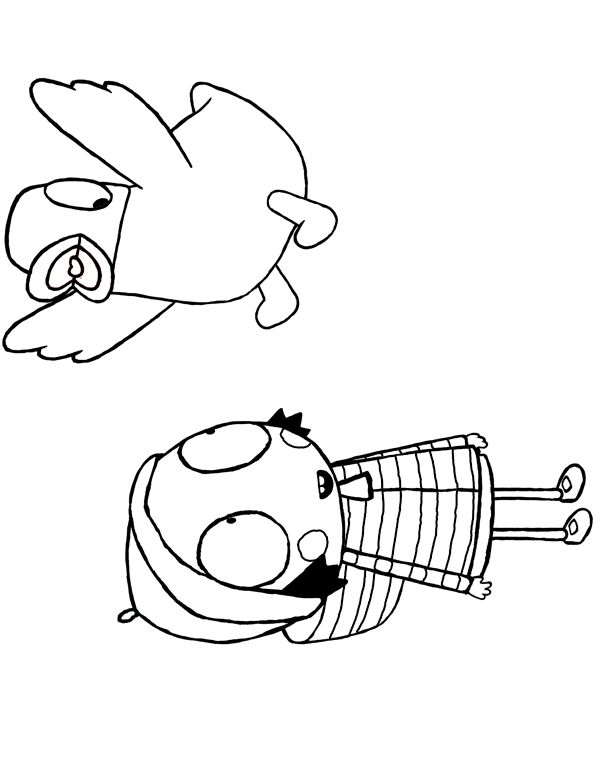 sarah and duck coloring pages - photo#25