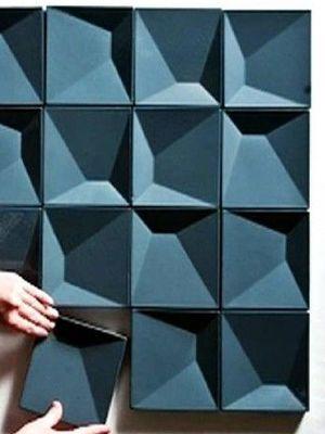 STYLECOOKIE | 3D INSPIRATION Ook de 3d trend komen we tegen in onze zoektocht naarBlauw. Dit geweldige tegeltableau van Cortesia de Ragazzi Architectos verandert keer op keer.....