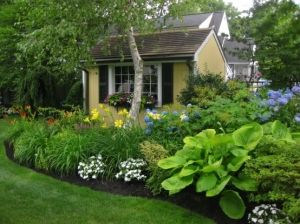 pretty shade garden by jana shade garden design ideas - Shade Garden Design Ideas