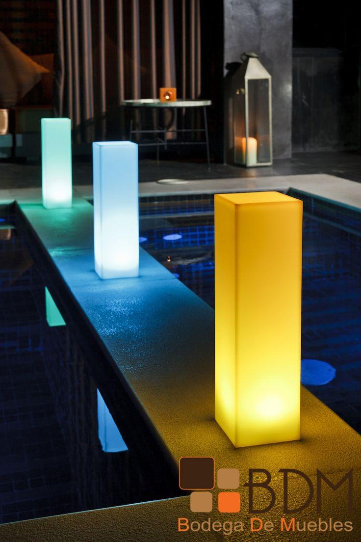 crea atmsferas perfectas con estas torres iluminadas con led