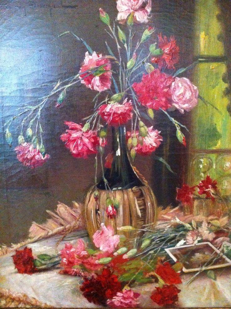 Bloemen in fles schilderijen kuipers kunst en antiek for Schilderijen van bloemen