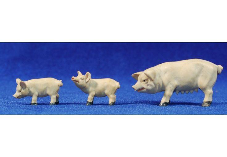 Grupo cerdos 8 cm resina