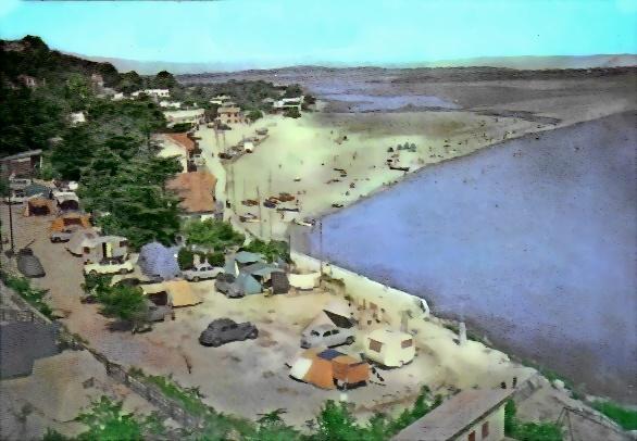La Franqui (Aude)  Le camp Domino, bords de mer. (Années 50/60)