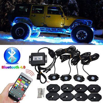 LED RGB Off-road Rock Lights Wireless Bluetooth Music Accent Car Jeep SUV Truck | eBay