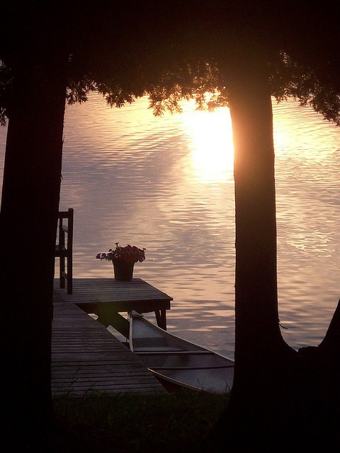 Sunset at the lake... Love